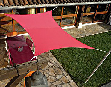 Voile ombrage extensible carrée 3X3m easy sail