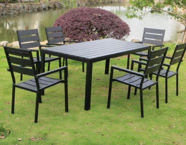 Table de jardin 6 places en polywood TIGUANA