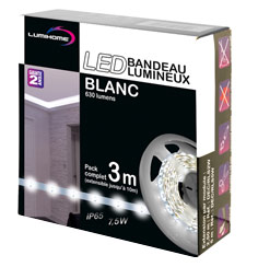 Strip LED 12v Blanc 3m