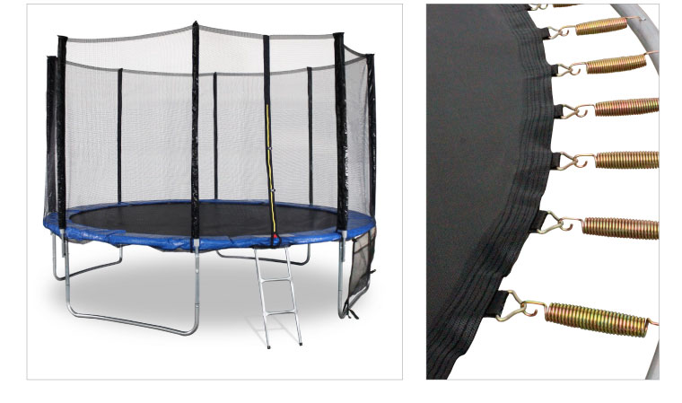 Trampoline filet protection ressorts grand modele